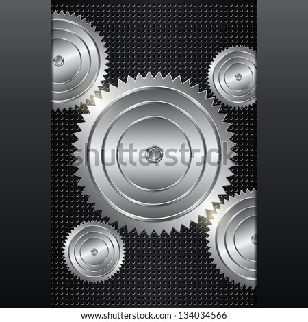 Abstract mechanical background. Raster version of vector illustration. - stock photo
