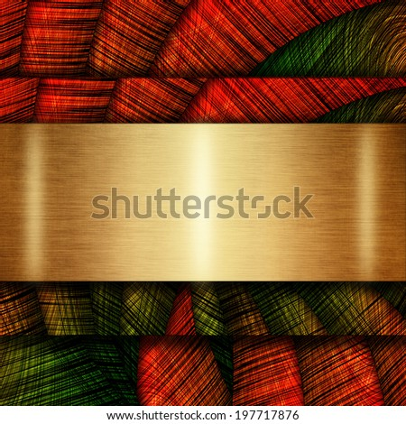 Abstract metal background with place for text - stock photo