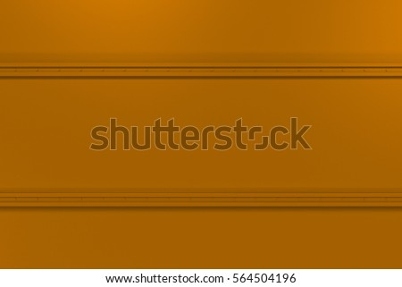 Abstract metal banner. Rectangular colored plate texture with rivets. 3D render illustration