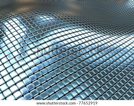 Abstract metal boxes background - stock photo