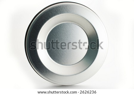 Abstract metal circle background - stock photo