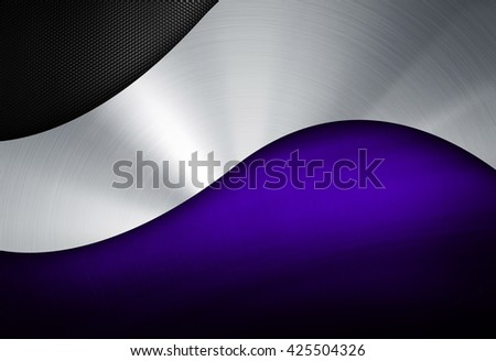 abstract metal with curved pattern - stock photo
