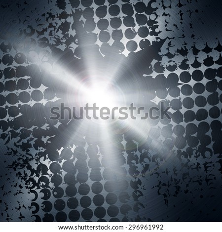 abstract metal with light background - stock photo