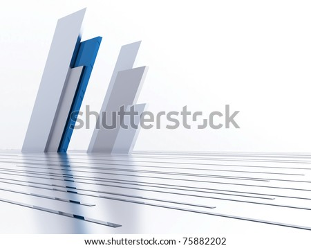 Abstract metallic lines and details as a futuristic background - stock photo