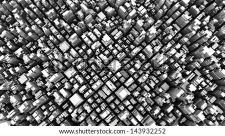 abstract metropolis 05 - halftone - stock photo