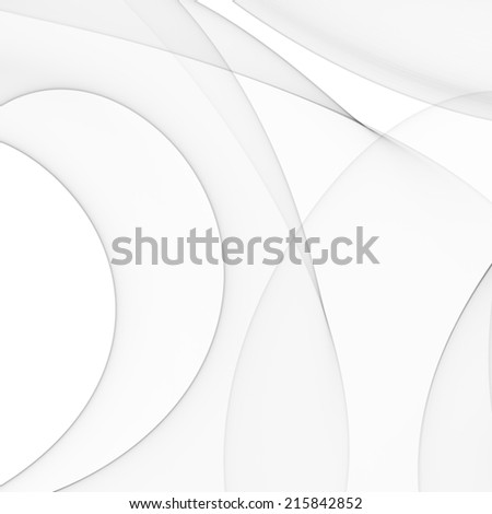 Abstract minimal waves background white and gray - stock photo