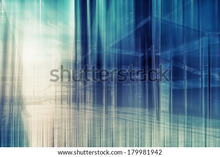 abstract modern architecture ,architecture background,motion blur  - stock photo