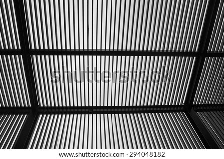 Abstract Modern Architecture Black & White - stock photo