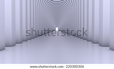 Abstract Modern Background, empty futuristic interior, Columns Hall - stock photo