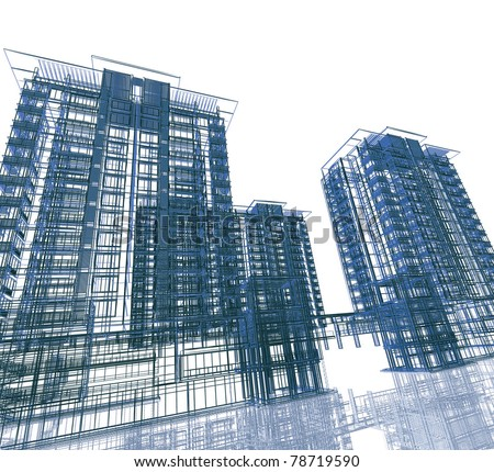Abstract modern building - stock photo