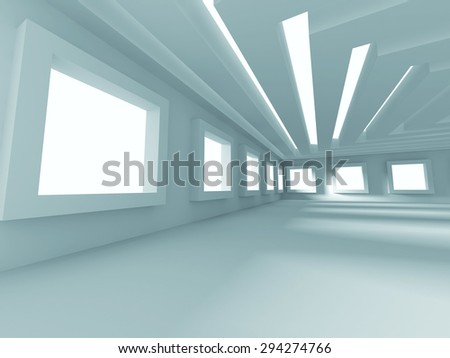 Abstract Modern Design Interior Architecture Background. 3d Render Illustration - stock photo