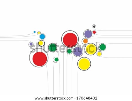 Abstract  modern shapes on the gray background - stock photo