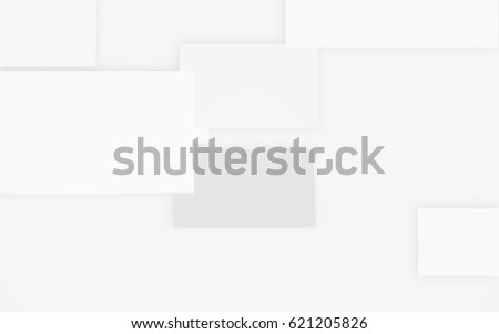 Abstract modern white card texture background