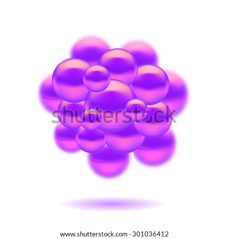 Abstract Molecules Design. Set Molecules Spheres Abstract background . Molecular Structure  Atoms. Medical Background for Banner. - stock photo