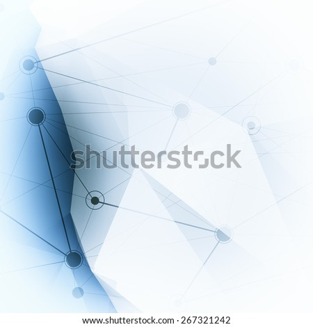Abstract molecules low poly medical background - stock photo