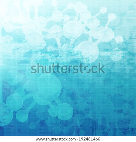 Abstract molecules medical background - stock photo