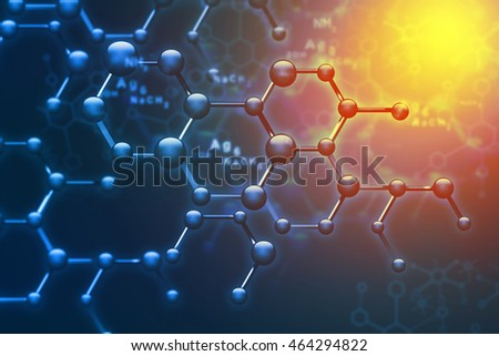 Abstract Molecules. Science and technology background. 3d illustration