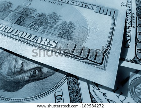 Abstract money background from Dollars USA - stock photo