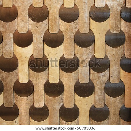 Abstract mosaic tiles in grunge style background - stock photo