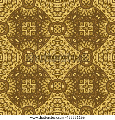 abstract mosaic tiles vintage ethnic seamless pattern ornamental