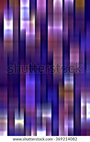 Abstract mosaic with motion blur, mainly blues and magentas, with a vaguely metallic cast, for decoration and background with architectural, industrial, or urban themes