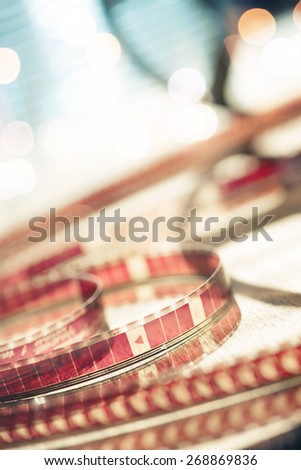 Abstract motion picture film - stock photo