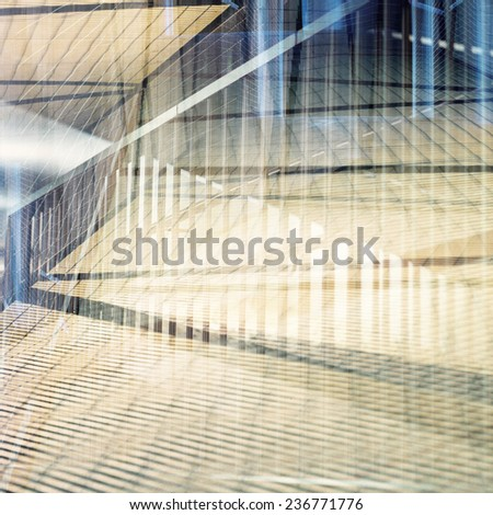 Abstract multi exposure background. Architectural details. - stock photo