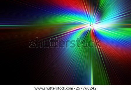 abstract  multicolor   background on black background