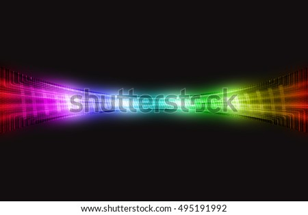 abstract multicolor  background on black for template