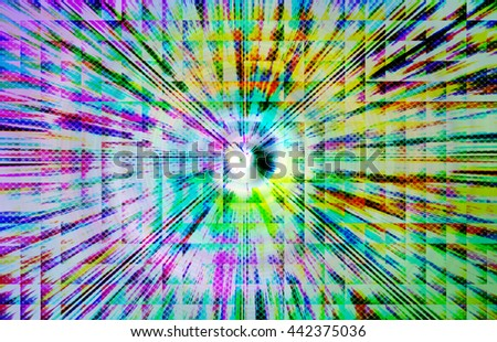 abstract multicolor background with motion block blur