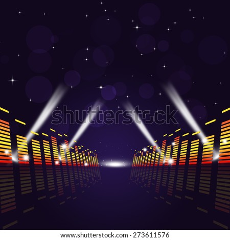 abstract multicolor music equalizer background for active parties - stock photo