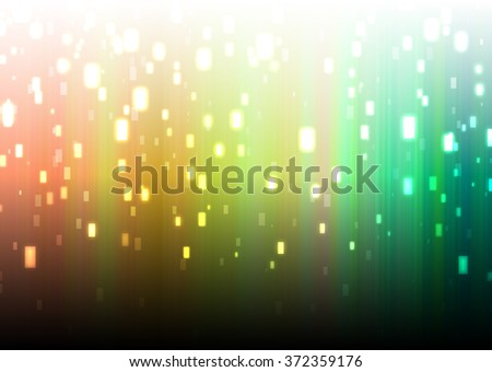 Abstract multicolor music equalizer. Technology Data Transfer. Bokeh on green gold background - stock photo
