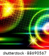abstract multicolored disco background - stock photo