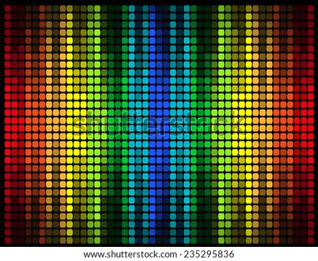 abstract multicolored graphic equalizer illustration isolated on black background - stock photo