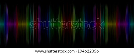 Abstract multicolored sound equalizer display.Digitally generated image. - stock photo