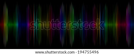 Abstract multicolored sound equalizer taken closeup as background.Digitally generated image. - stock photo