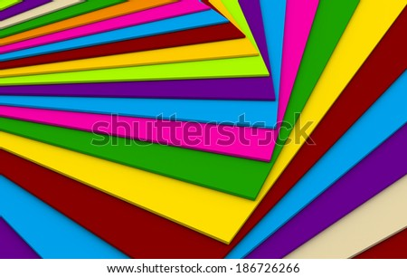 abstract multiple color plane over another