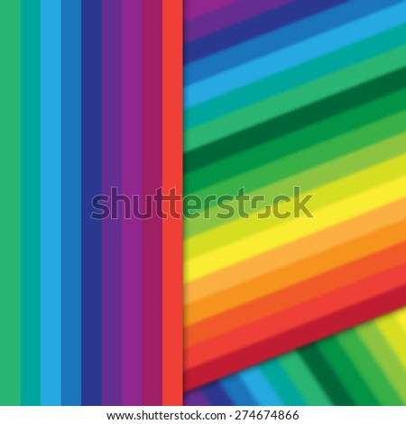 abstract multiple colorful stripes background - stock photo