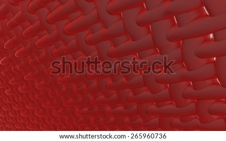 Abstract muscle fiber background and red blood cells. Organic Tissue Texture with light effects - stock photo
