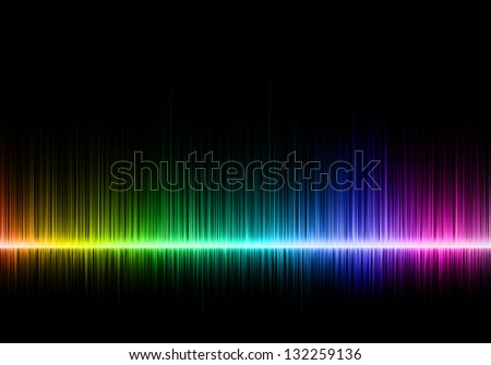 Abstract music equalizer - stock photo