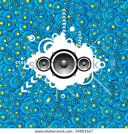 Abstract music party background (bitmap) - stock photo