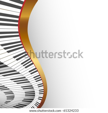 abstract musical background , illustration - stock photo