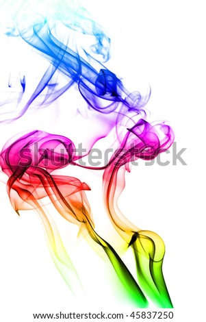 abstract mystical multi colored smoke
