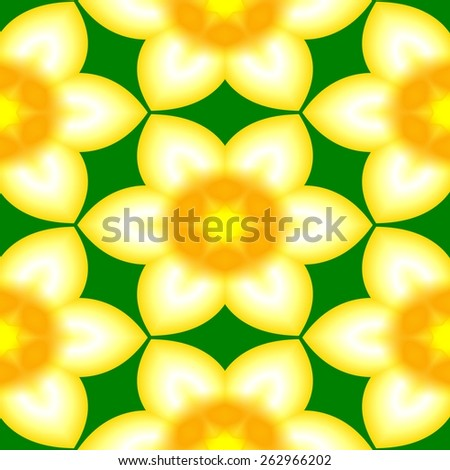 Abstract narcissus pattern. Texture background. Seamless illustration. - stock photo