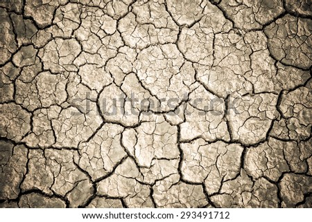 Abstract natural background with cracked earth - stock photo