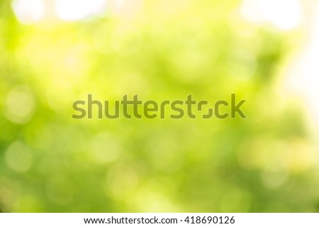 Abstract Natural Defocused Lights/ Bokeh Background - stock photo