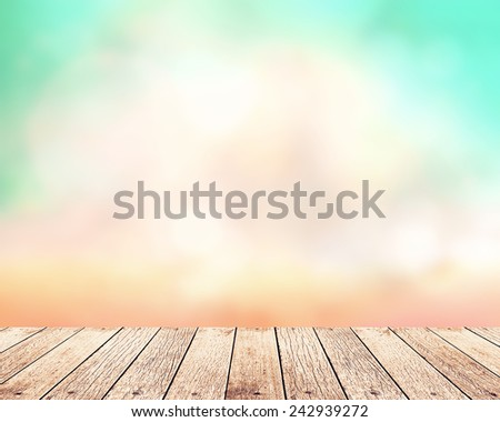 Abstract nature background with wooden paving. - stock photo
