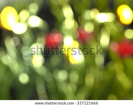 abstract nature bokeh - stock photo