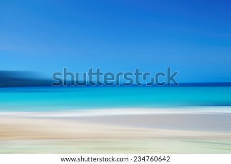 Abstract nature : seascape, steak effect, blur motion - stock photo