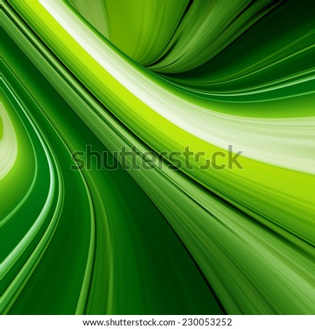 abstract neon green lines, 3d background - stock photo